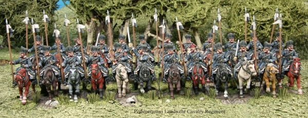 Prussian Landwehr Cavalry: Advancing